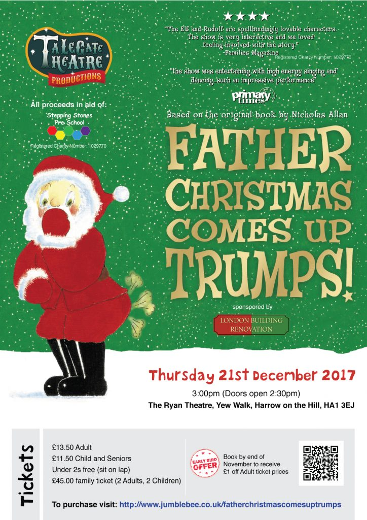 Fundraising event – Dec 2017. All proceeds in aid of Stepping Stones Harrow